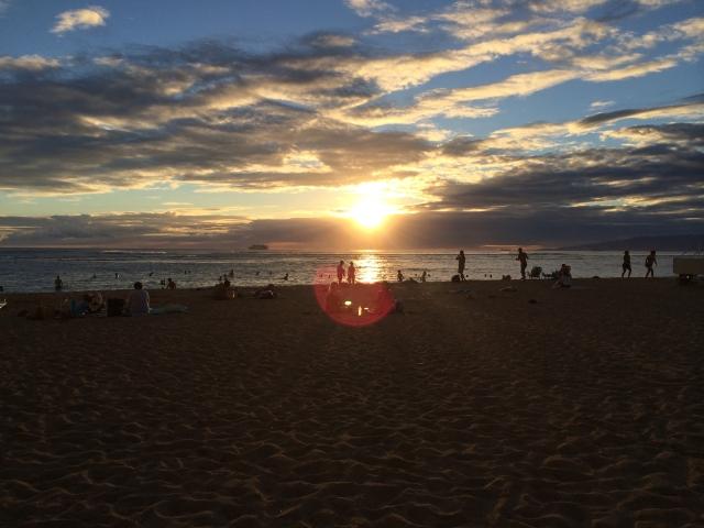 カイマナビーチの夕陽