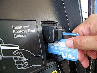 クレジットカードの入れ方