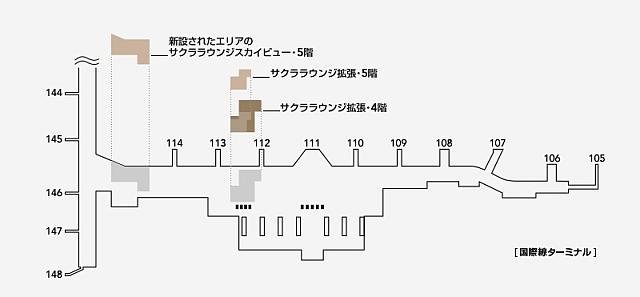 JALサクララウンジ地図