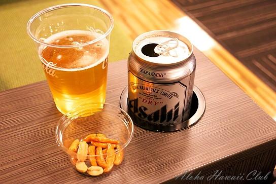 成田空港IASSラウンジのビール